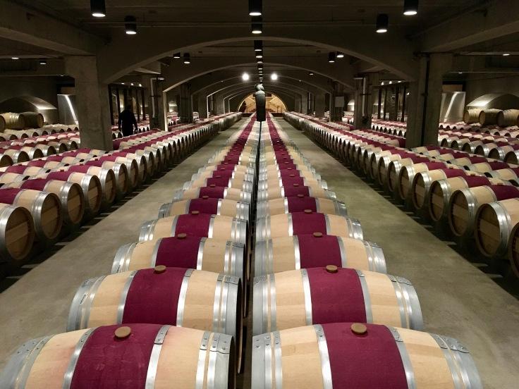 Robert Mondavi's Barrel Cellar in their Oakville Napa Valley Winery