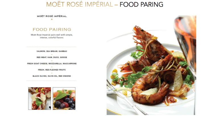Moët & Chandon Rosé Impérial Food Pairing