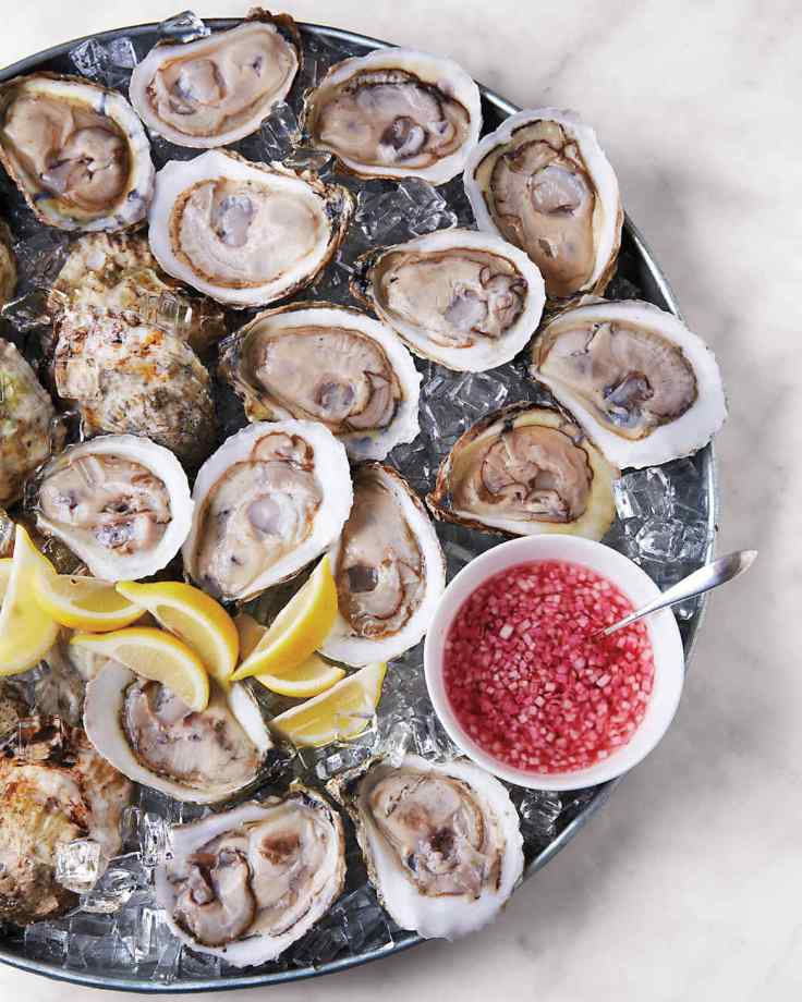 Oysters on the Half Shell &  Mignonette Sauce A130522 MSLO Martha's Holiday Brunch Dec 2013