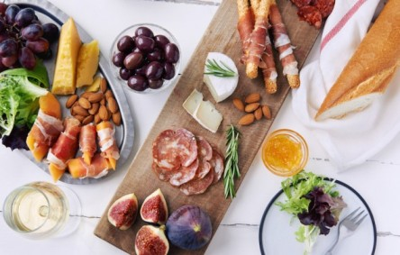 Charcuterie is perfect with Prosecco